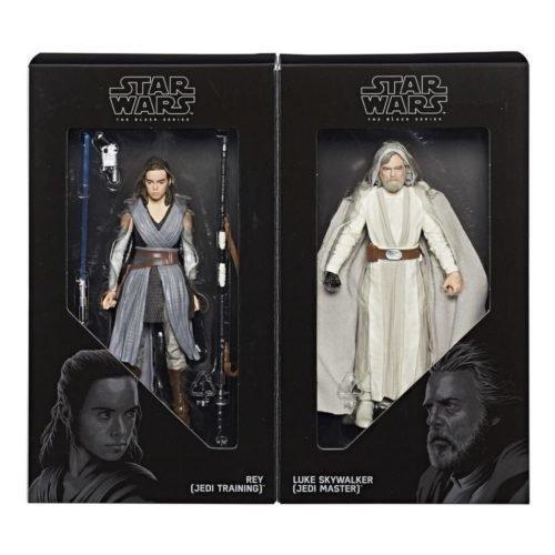 "Hasbro SDCC 2017 Exclusive Black Series Jedi Master Luke and Apprentice Rey 6"" Action Figures"
