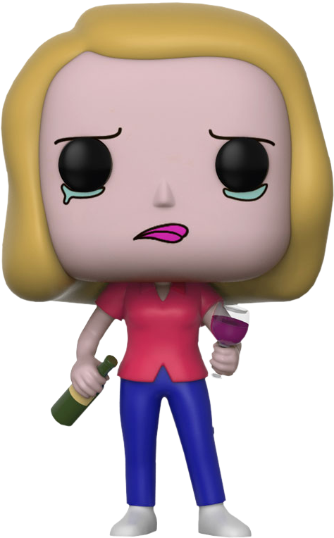 Funko Rick and Morty - Beth with Wine Glass Pop! Vinyl Figure