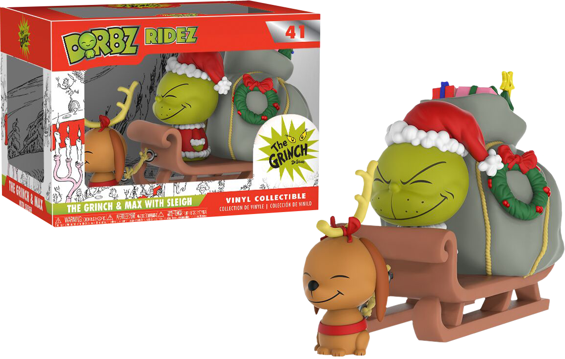 Funko The Grinch - The Grinch and Max on Sled Dorbz Ridez Vinyl Figure