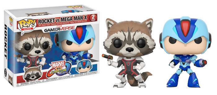 Funko Marvel vs Capcom Rocket Vs. Megaman X 2Pack Pop! Vinyl Figure