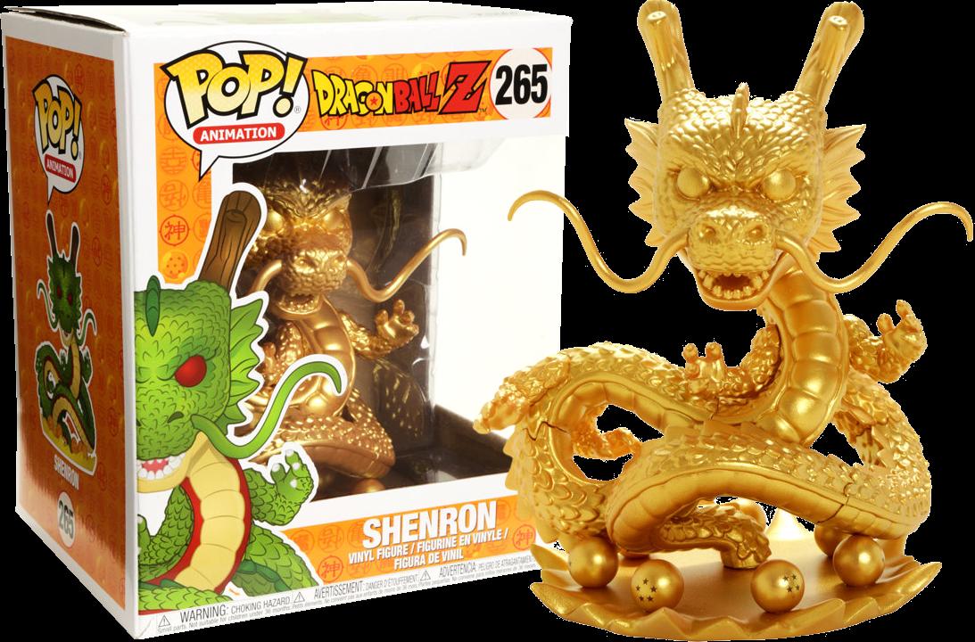 "Funko Exclusive Dragon Ball Z - Shenron Gold 6"" Super Sized Pop Vinyl Figure"