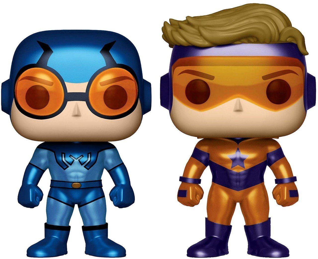 Funko DC Universe Booster Gold and Blue Beetle 2-Pack Exclusive Pop! Vinyl Figure