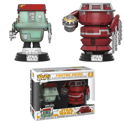 Funko Star Wars : Solo : A Star Wars Story Fighting Droids 2-pack Exclusive Pop! Vinyl Figure