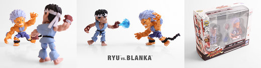 Loyal Subjects Street Fighter Altered Costume Ryu and Blanka 2 Pack Mini Figures SDCC 2017 Exclusive