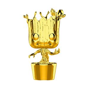 Funko POP Marvel: MS 10 - Groot (Chrome)