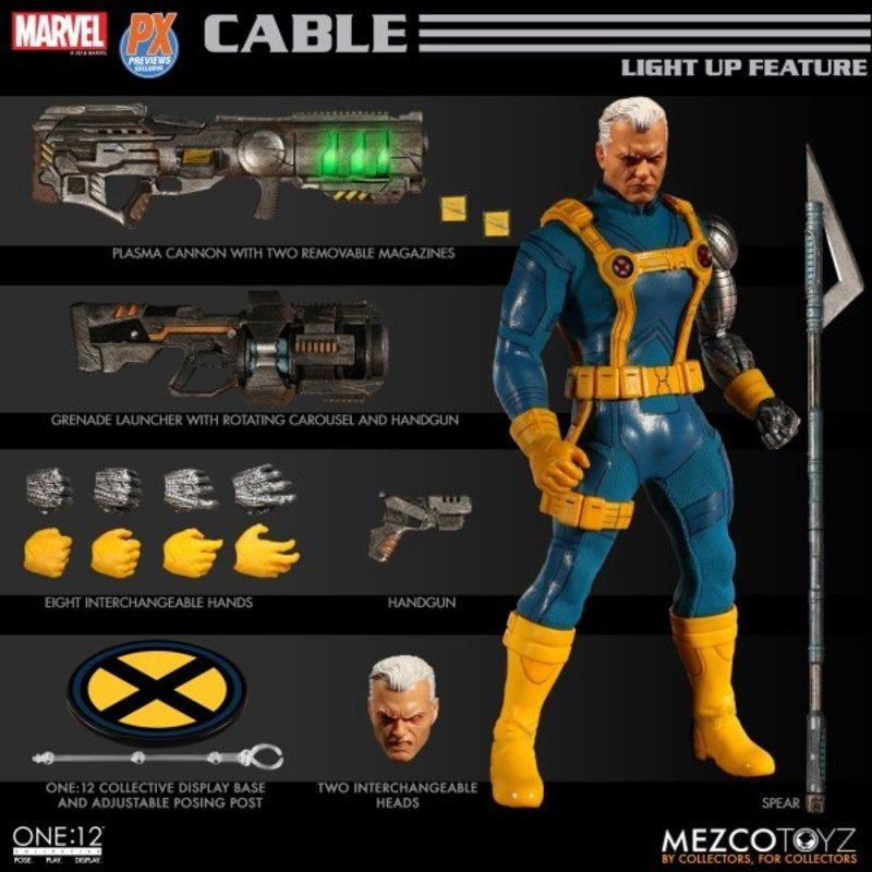 Mezco One : 12 Collective Cable X-men Ver PX Exclusive