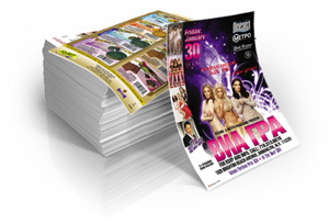 1000 3x4 Flyers 1 or 2 sided  w/design