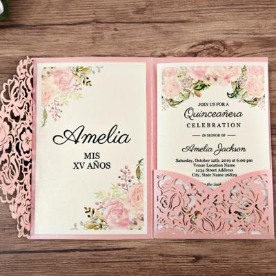 Invitación Personalizada Girona (Rosa, Blanca, Roja)