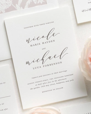 Invitación Personalizada Giara (Tipográfica)