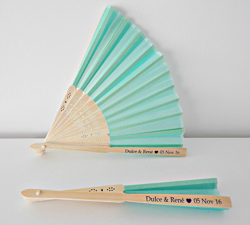 Abanicos Personalizados Color Sólido Fiboma (Set de 50-150 unidades)