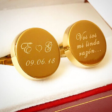 Mancuernillas Personalizadas en Oro Faustino