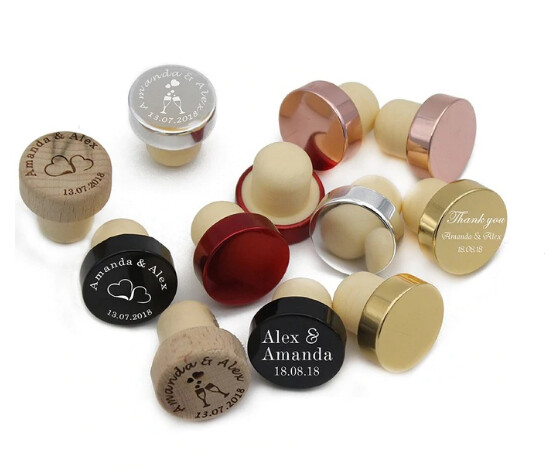 Recuerdos de Tapón para Botella de Vino Lua (Set 50-100 unidades)