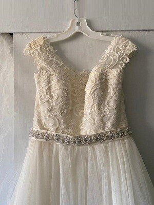 Vestido de Novia Usado David's Bridals / Talla 8