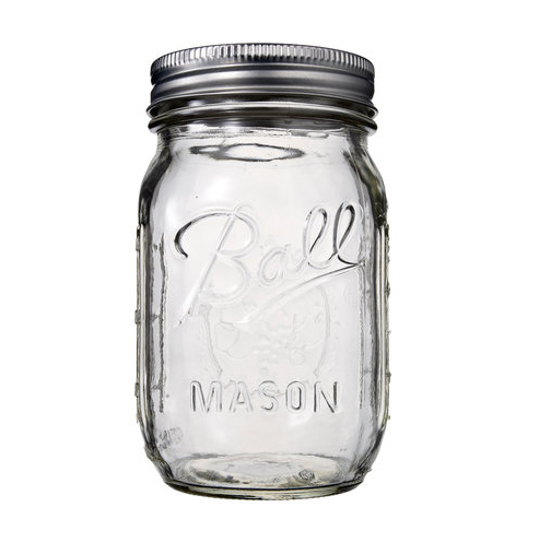 Frasco Mason Jar 16oz Ciroba Tapa Regular y Perforada / Set de 5-100