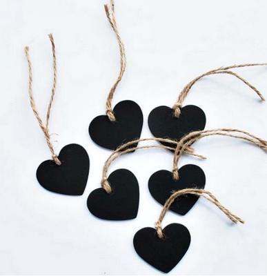 Mini Letreros de Corazón (Set de 50 unidades)