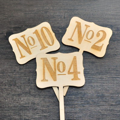 Letreros para Enumerar Mesas Nobacera / Números de Mesa