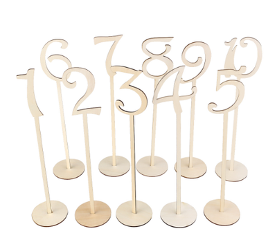 Letreros para Enumerar Mesas Nobamia 2mm (Números 1-20) / Números de Mesa