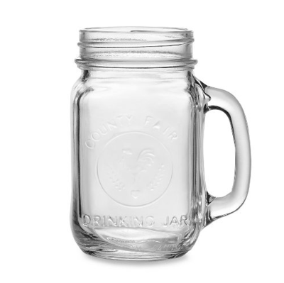 Frasco Mason Jar 16oz County Fair Cubrina / Set de 5-100
