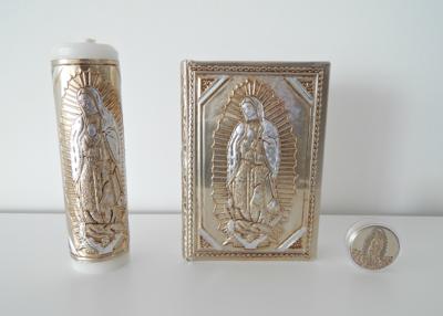 Set Cirio, Biblia y Rosario Guadalupe con Caja