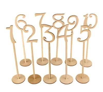 Letreros para Enumerar Mesas Nobamia 6mm (Natural, Negro, Plata, Dorado) / Números de Mesa