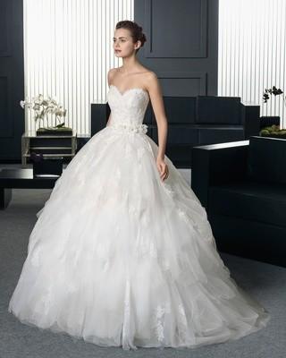 Vestido de Novia Usado Rosa Clará Two / Talla 4