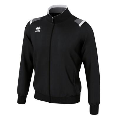 LOU Fullzipped Sweatshirt Sort/Antracit grå/Hvid