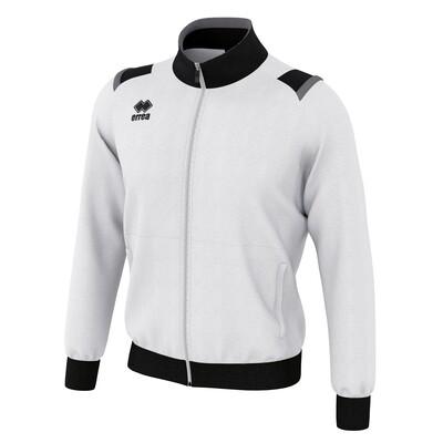 LOU Fullzipped Sweatshirt Hvid/Sort/Antracit grå