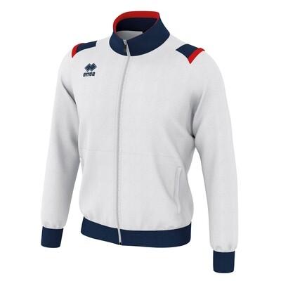 LOU Fullzipped Sweatshirt Hvid/Navy/Rød