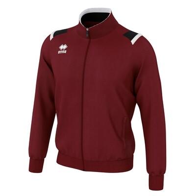 LOU Fullzipped Sweatshirt Maroon/Sort/Hvid