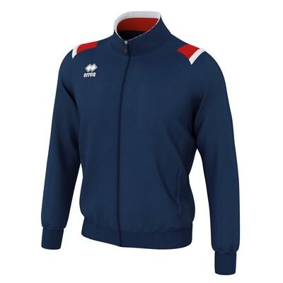 LOU Fullzipped Sweatshirt Navy/Rød/Hvid