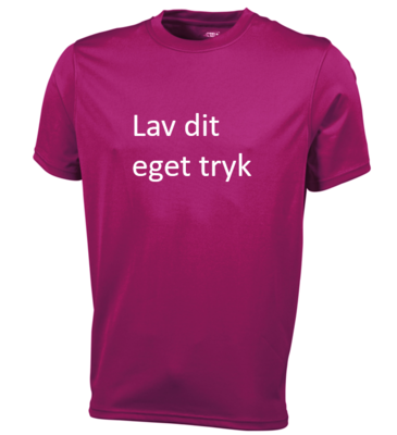 Sports T-shirt med 1-farvet tryk - Pink