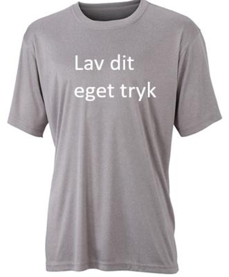 Sports T-shirt med 1-farvet tryk - Lys grå
