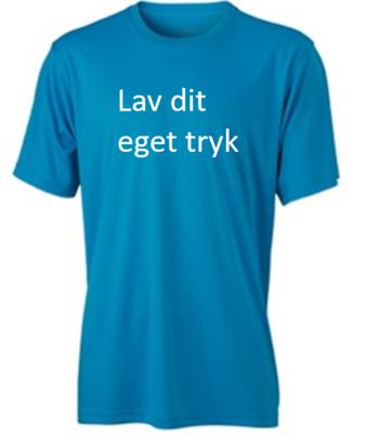 Sports T-shirt med 1-farvet tryk - Lys blå