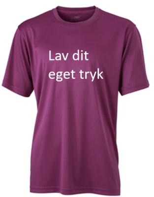Sports T-shirt med 1-farvet tryk - Lilla