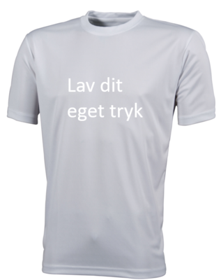 Sports T-shirt med 1-farvet tryk - Hvid