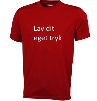 Sports T-shirt med 1-farvet tryk - Rød