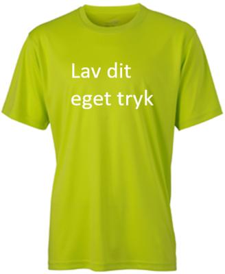 Sports T-shirt med 1-farvet tryk - Ocideret gul