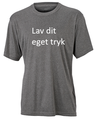 Sports T-shirt med 1-farvet tryk - Grå