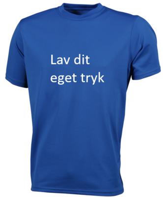 Sports T-shirt med 1-farvet tryk - Blå