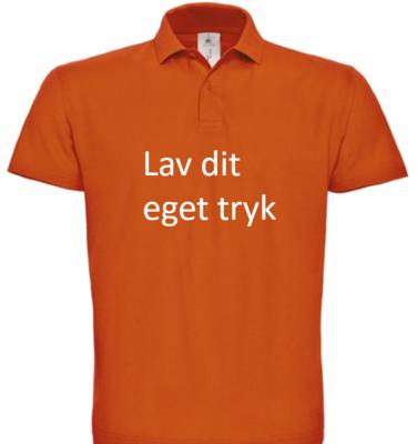 Polo med 4-farvet tryk - Orange