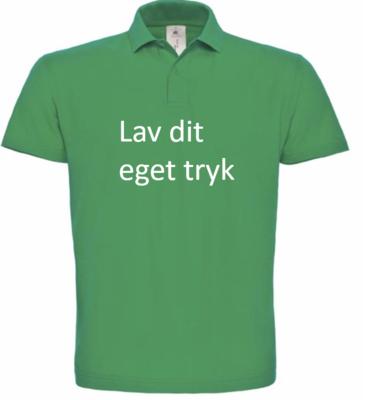 Polo med 4-farvet tryk - Grøn