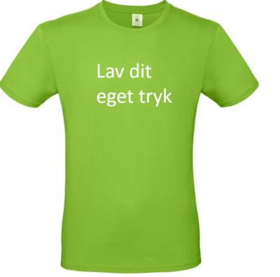 T-shirt med 3-farvet tryk - Lime grøn