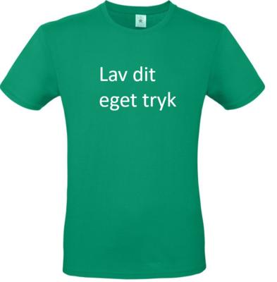 T-shirt med 3-farvet tryk -  Grøn