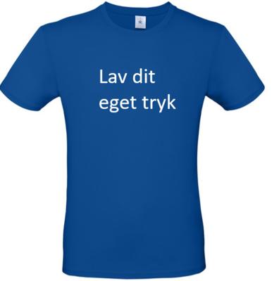 T-shirt med 3-farvet tryk - Blå