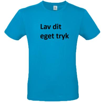 T-shirt med 3-farvet tryk - Tyrkis