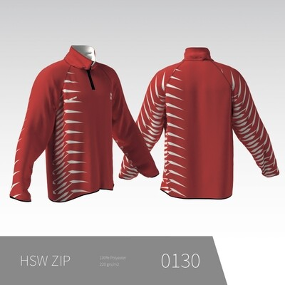 HSW ZIP - Langærmet træningstrøje Med Kort Lynlås