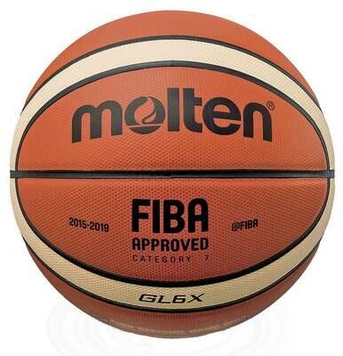 MOLTEN BASKETBALL GL6 OFFICIEL FIBA KAMP BOLD EM, OL, VM