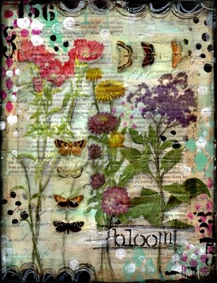 """""""Bloom"""" Print on Wood and Print to be Framed"""