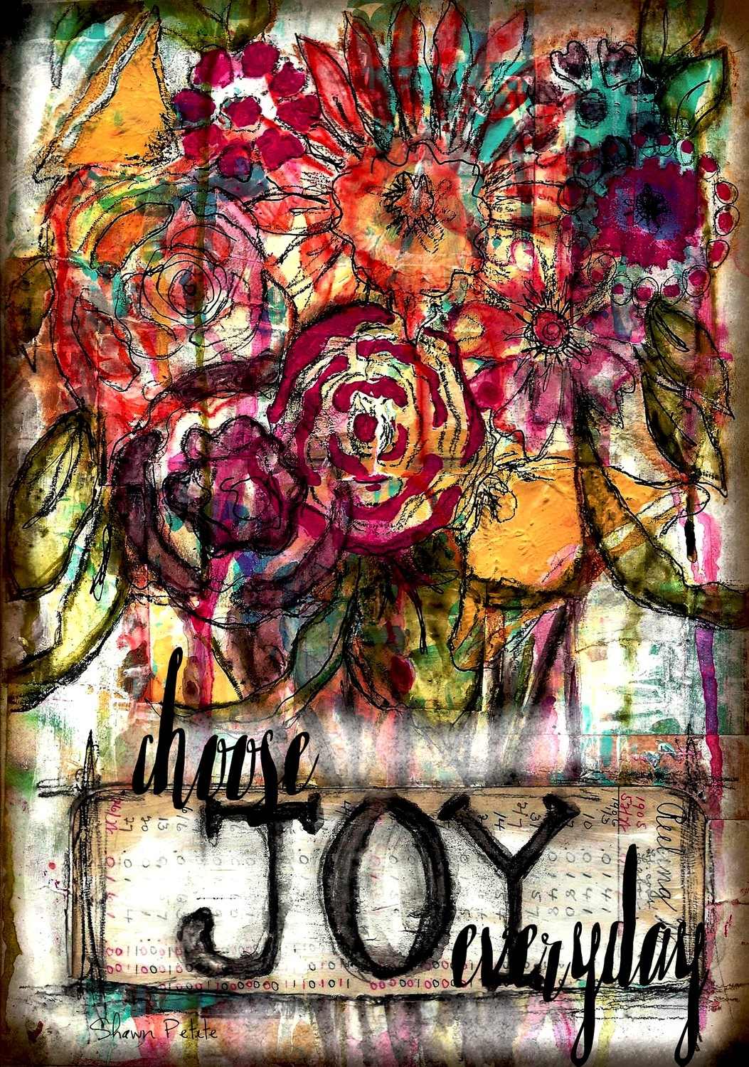 """""""Choose Joy Everyday"""" Print on Wood and Print to be Framed"""