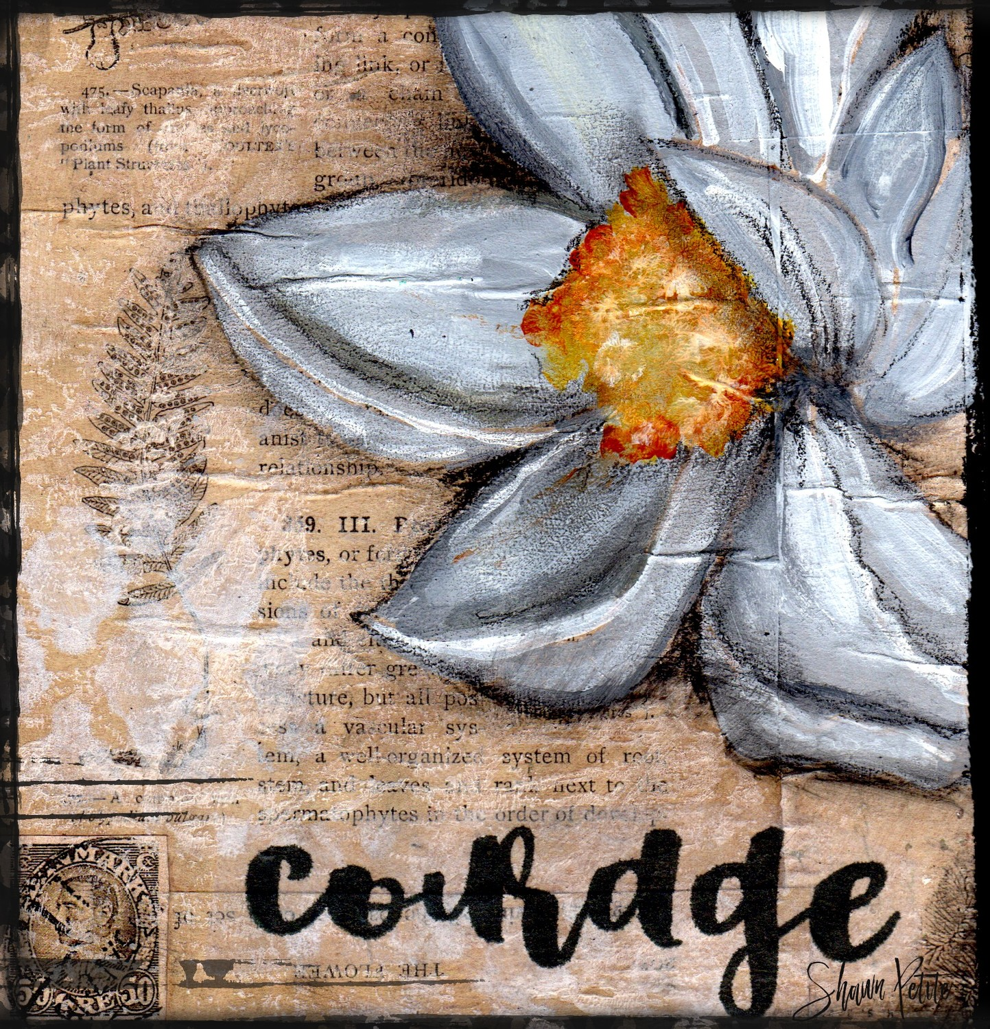 """Courage"" magnolia, Print 6x6 Clearance"